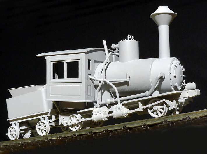 Cog Railway Locomotive #9 - O Scale 3d printed Cleaned and primed model by Warren Disbrow.