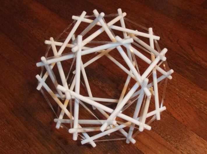 Tensegrity Icosidodedahedron 1 3d printed