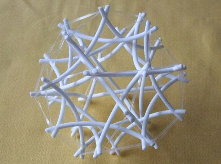 Tensegrity Icosidodecahedron 2 3d printed