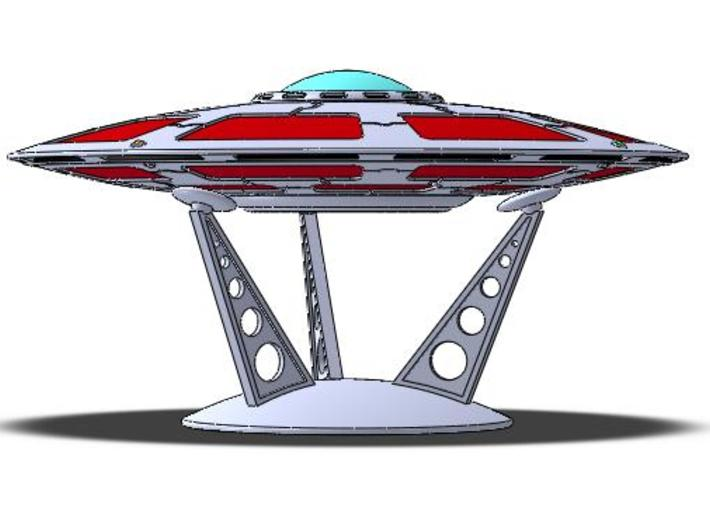 5 Inch Olympus Saucer Kit With Stand 3d printed