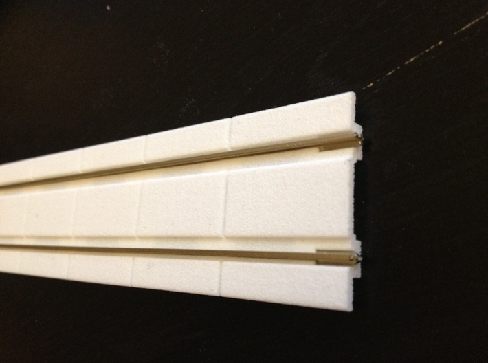 HO Concrete Trolley Track 3d printed