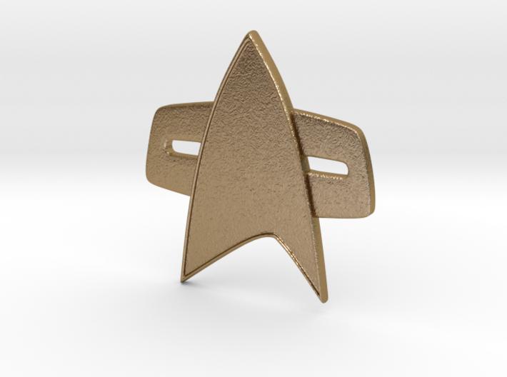 Star Trek Voyager/Deep Space Nine Combadge 3d printed