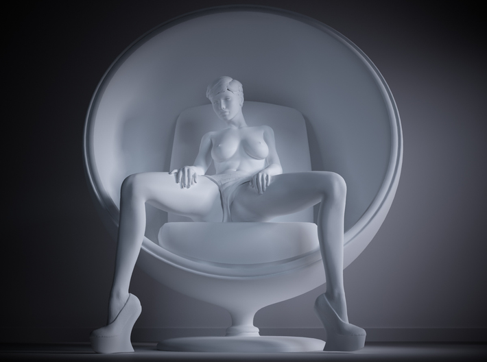 1/32 Sitting Sexy Girl part girl 3d printed