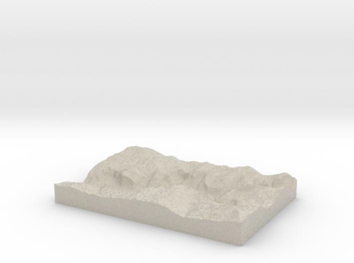 Model of Yosemite 3d printed