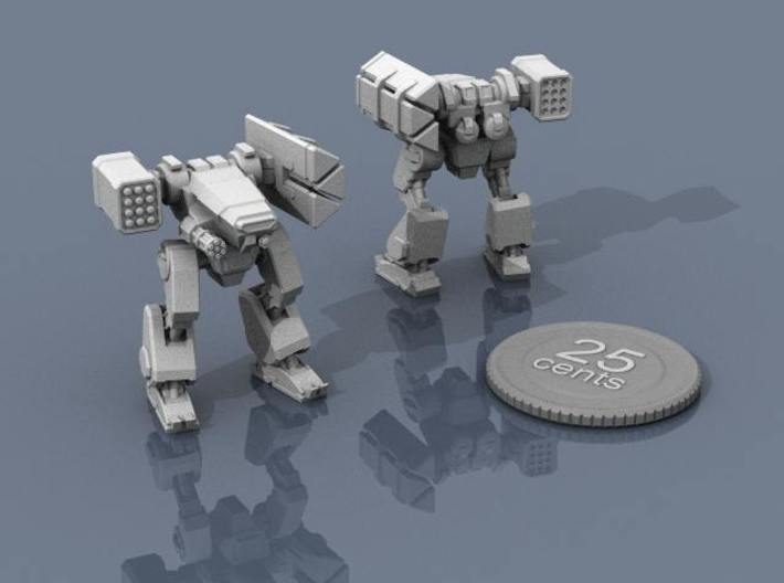 Terran Missile Walker 3d printed Renders of the model, with a virtual quarter for scale.