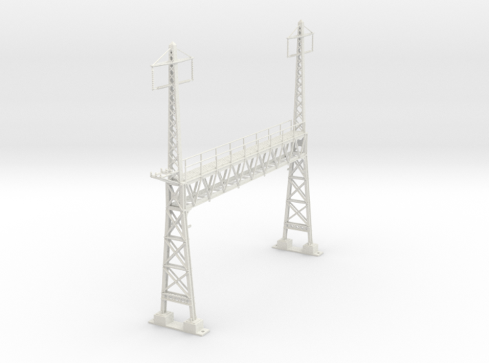 PRR CATENARY HO SCALE ANCHOR BRIDGE 2 PHASE 3d printed