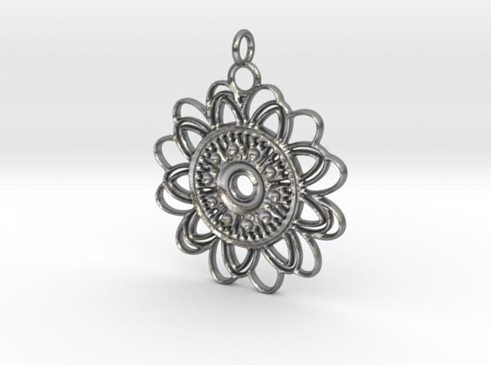 Petal Mandala Pendant 3d printed