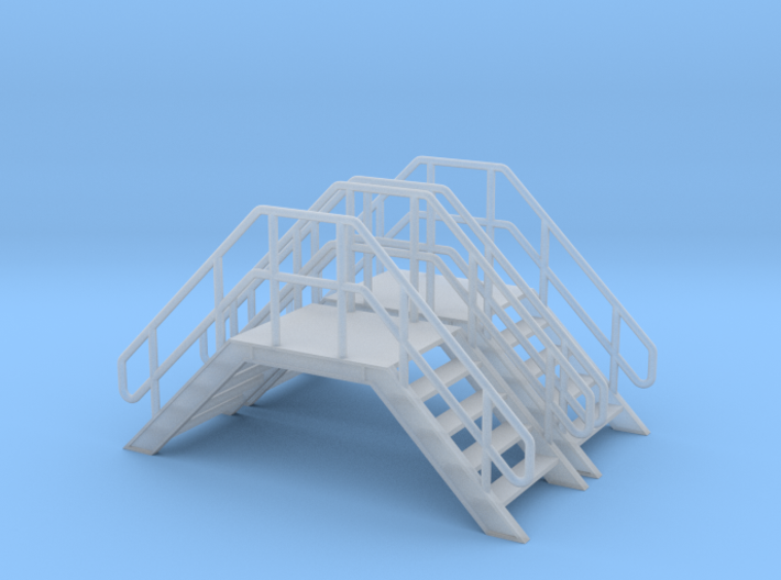 HO 2x Crossover Stairs 3d printed