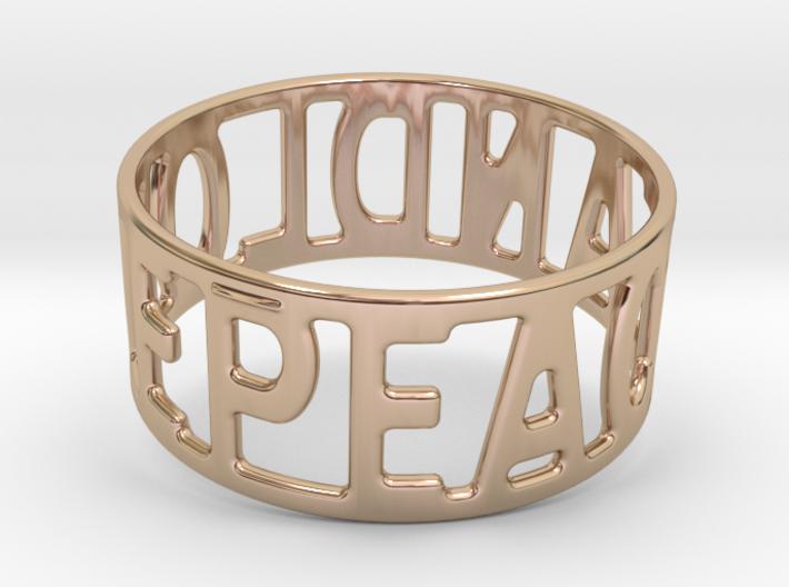 Peaceandlove 78 Bracelet 3d printed
