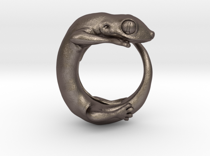 (Size 7) Gecko Ring 3d printed