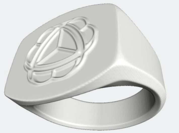 Seal Ring Size 19 mm - USA 9 3d printed