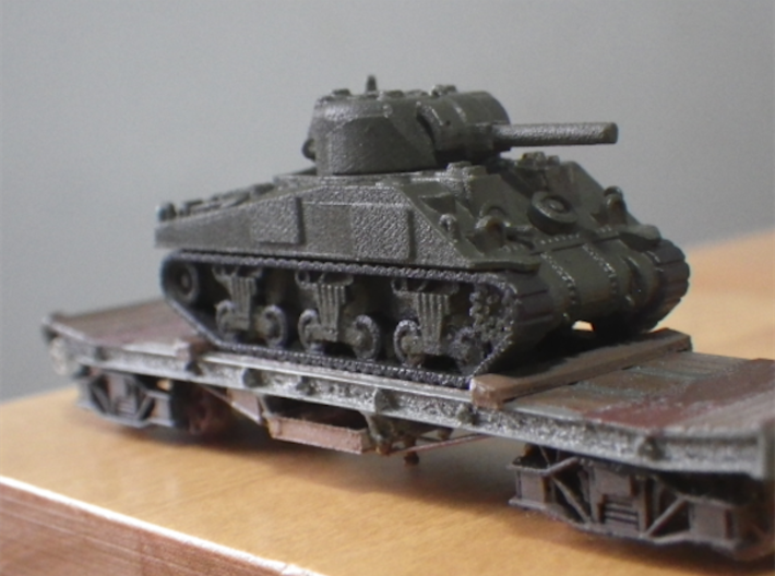 Rectank WW 1 & 2 Small Bolsters to 2 designs 3d printed The thin bolsters on a WW1 Rectank, Sherman to 1:152 by Modellbau EU.