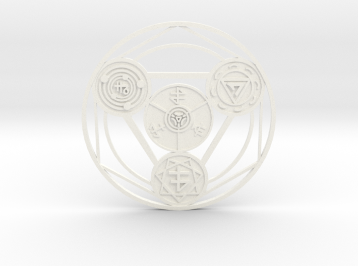 Alchemical Circle of Light 3d printed