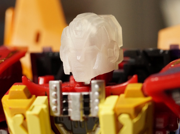 Hot Flame Convoy Head for Upgrade Armor 3d printed