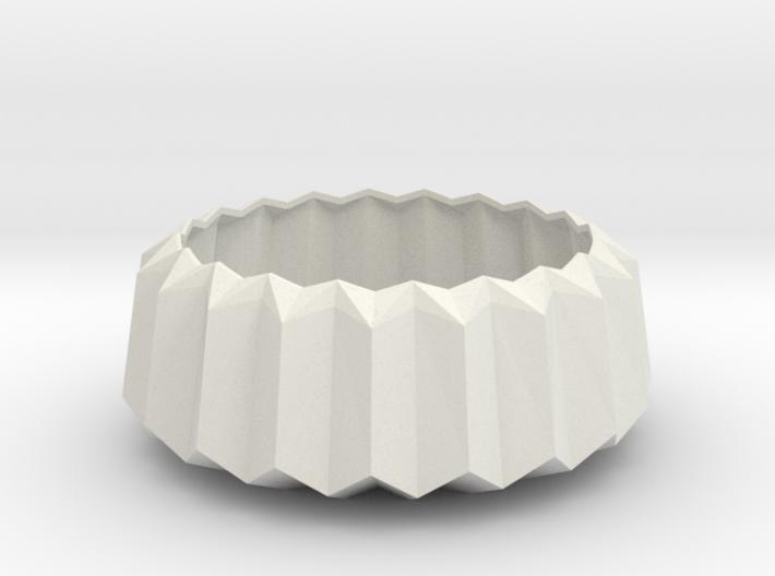 Geometric Mid-Century Design Faceted Tea Light Hol 3d printed