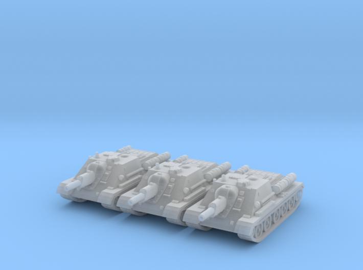 1/160 SU-122 self-propelled gun 3d printed