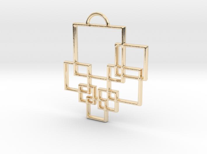 Squares Pendant 3d printed
