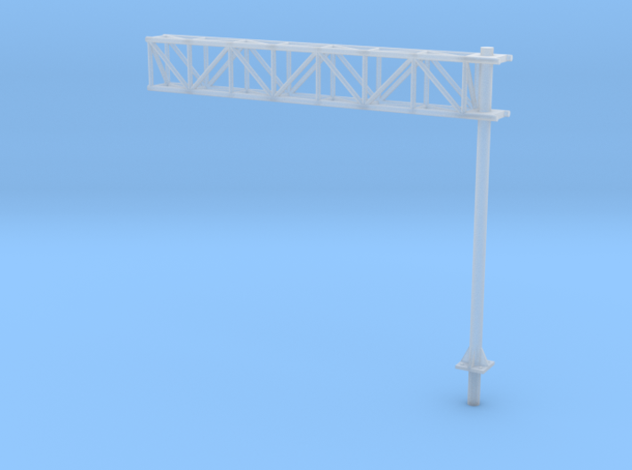 HO Scale Sign Cantilever 3d printed