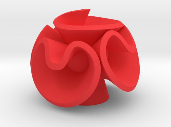 Orecchino Fiore Palla 3 3d printed