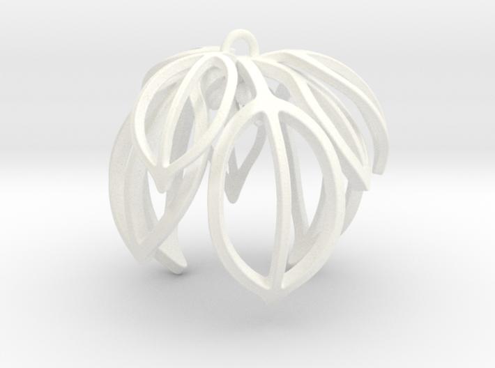 Poinsettia Ornament 3d printed