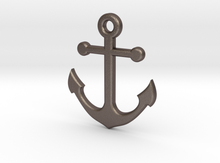 Anchor Necklace Pendant 3d printed