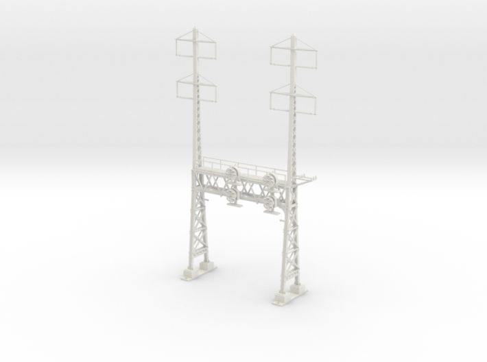 HO Scale PRR W-signal LATTICE 2 Track W 2-2 PHASE 3d printed