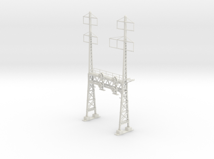 HO Scale PRR W-signal LATTICE 2 Track W 2-3 PHASE 3d printed