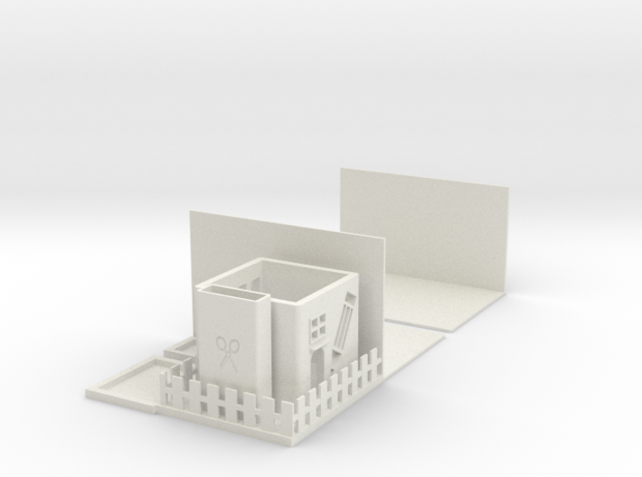 Bookend Stationery Storage 3d printed