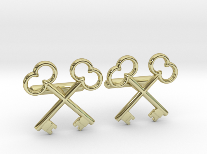 The Society of the Crossed Keys Cufflinks 3d printed