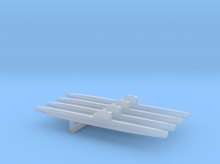 Whiskey-class submarine x 4, 1/2400 3d printed