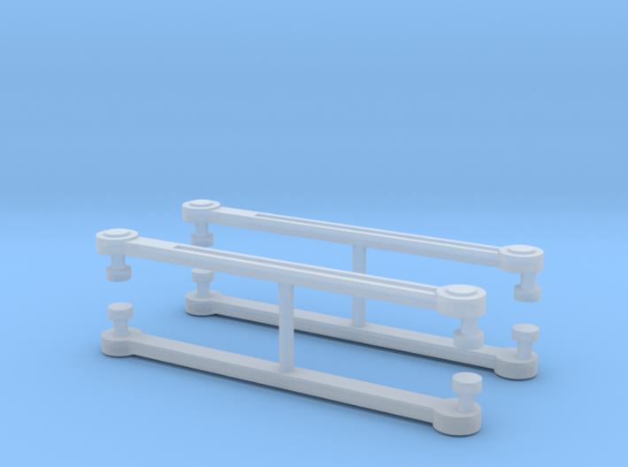 MRC Berkshire Eccentric Rods x4 - N Scale 1:160 3d printed