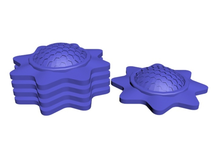 Stackable Shield Token 3 Pack for X-Wing Miniature 3d printed Stackable!
