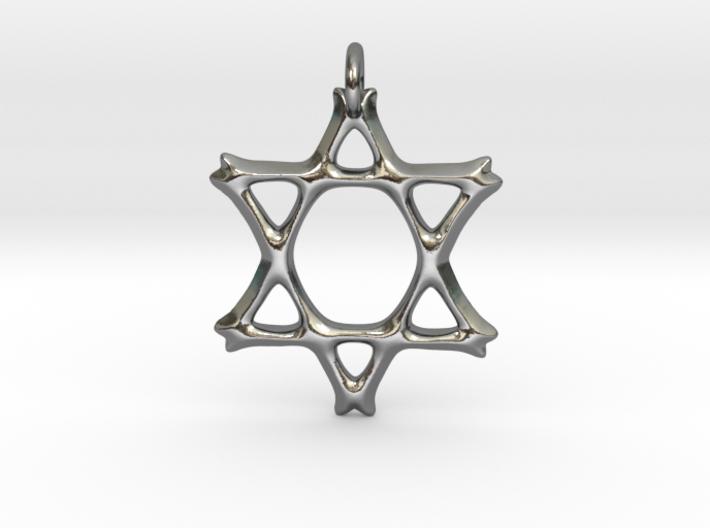 Star of David Pendant 02 3d printed