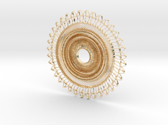 Floral Pendant #2 3d printed