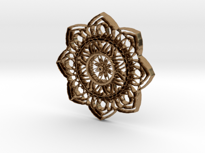 Floral Pendant #3 3d printed