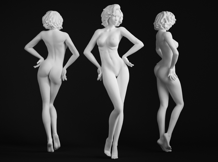 1/64 1/72 Office Lady 001 3d printed