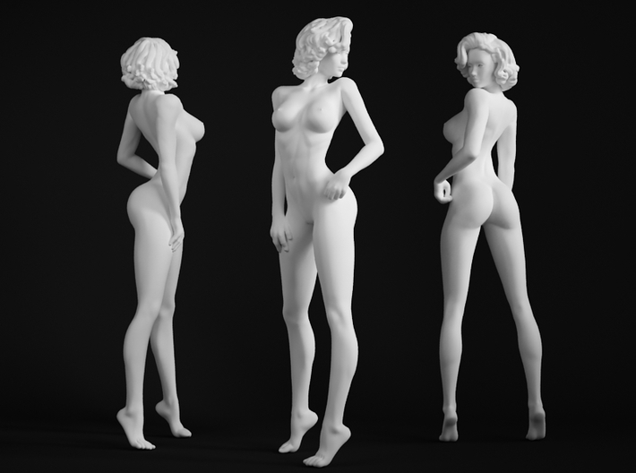 1/64 1/72 Office Lady 002 3d printed