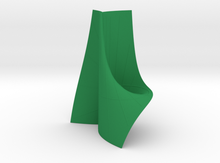 Cayley's Ruled Cubic (1 Pinch Point at Inf.) 3d printed