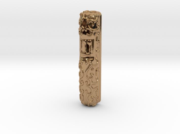 Mezuzah Case, Scrollwork A 3d printed