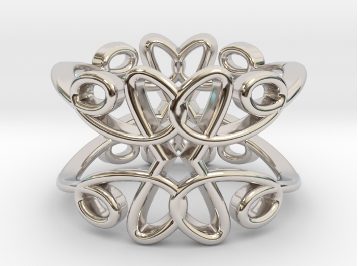 Queen of Hearts Bangle 3d printed