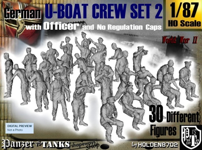 1-87 German U-Boot Crew Set2 3d printed