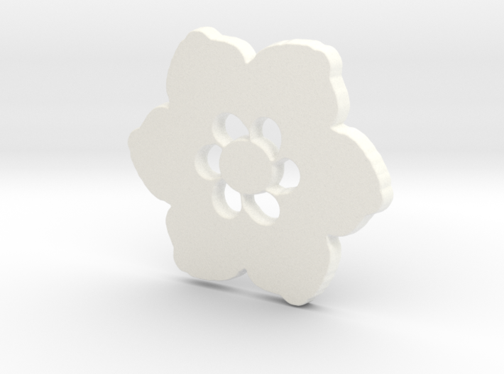 Happy Flower Pendant 3d printed