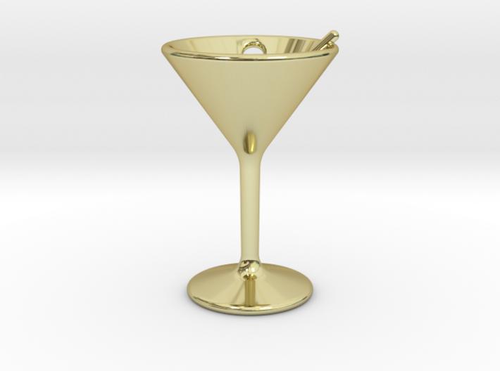 Martini Little Earring 3d printed