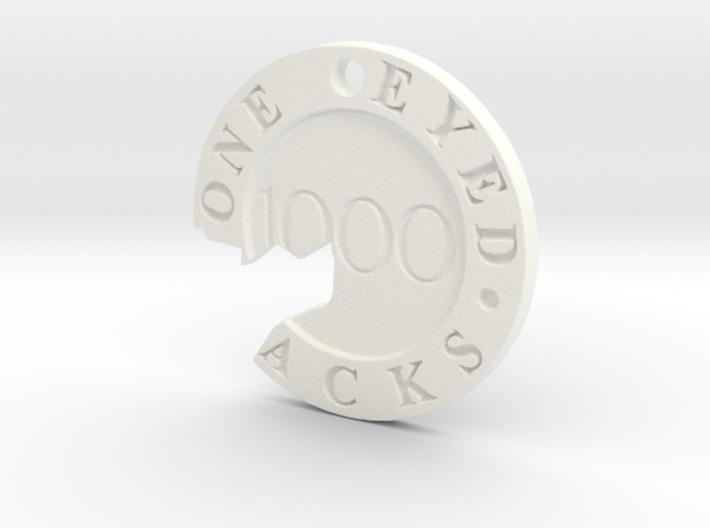 One Eyed Jacks Broken Poker Chip (1-Sided) 3d printed