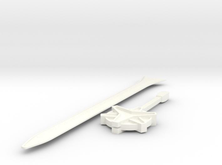 Megazord Lightspeed Sword 3d printed