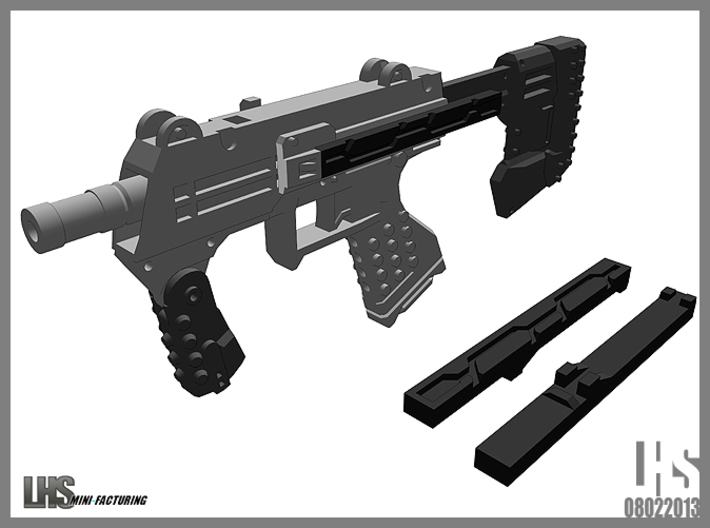 1/6 Scale Caseless SMG Revised 3d printed