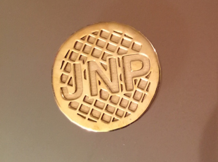 Personalized Golf Ball Marker 3d printed In this color, you will never lose your marker on the green.
