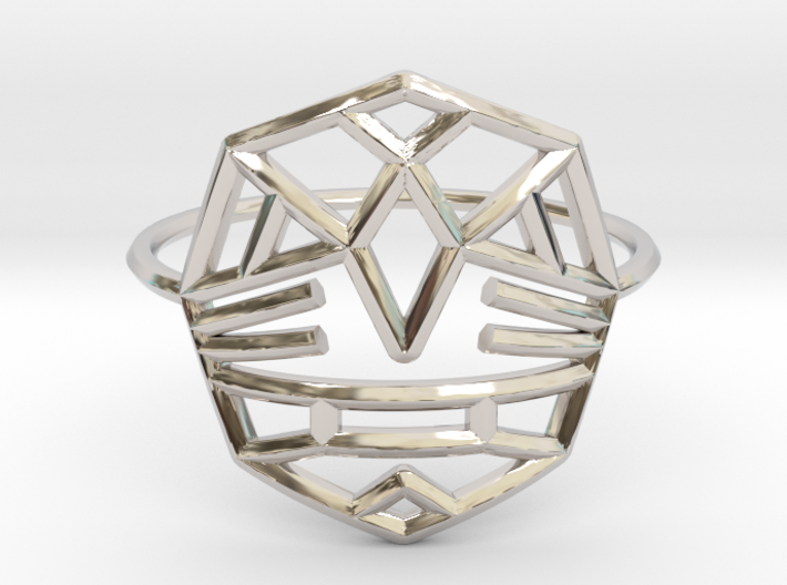 Fearless Warrior Ring (Medium) 3d printed