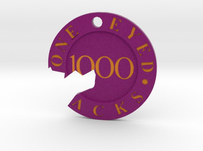 One Eyed Jacks Broken Poker Chip Pendant 3d printed