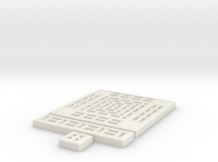 SciFi Tile 06 - Standard walkway 3d printed